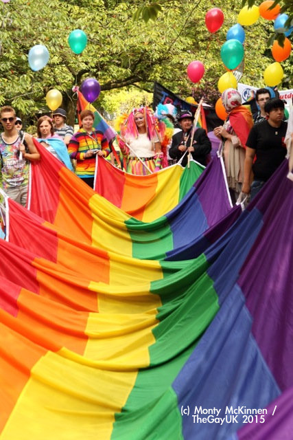 pride and culture with the gay pride flag flying high