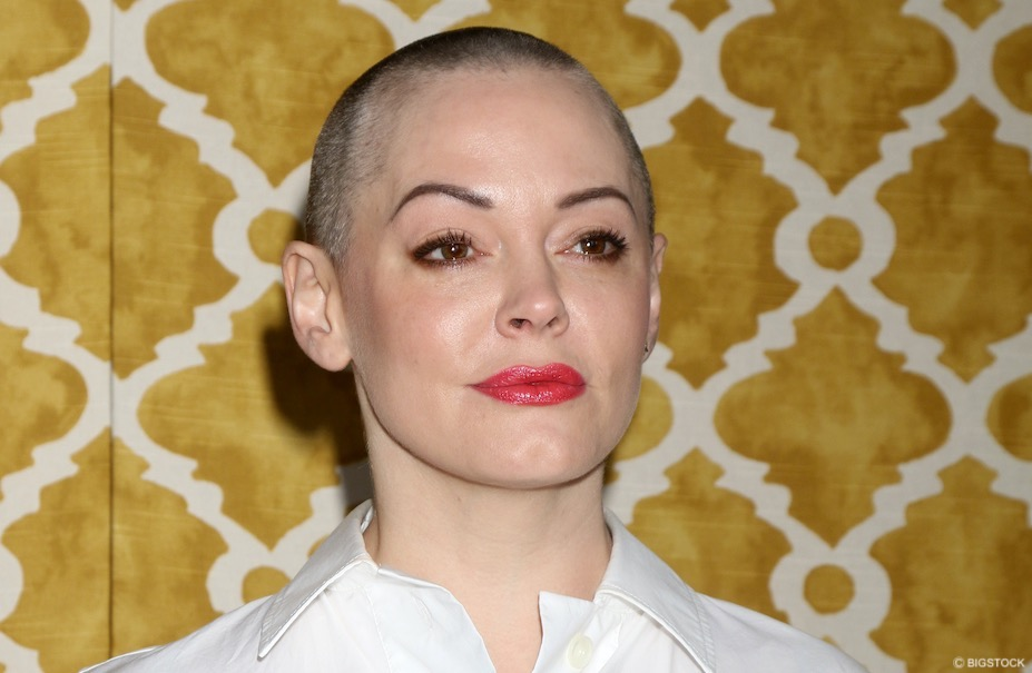 why did Rose McGowan shave her head?